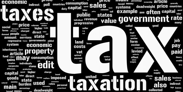word cloud regarding taxes for families and business owners