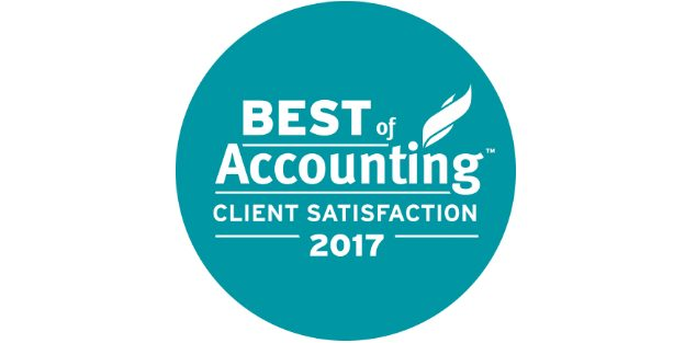 Graphic saying Best of Accounting Client Satisfaction 2017