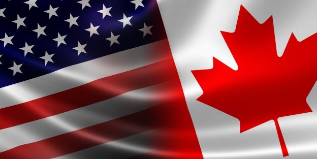 American & Canadian Flags