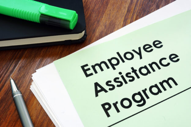 Employee assistance program printed on paper form