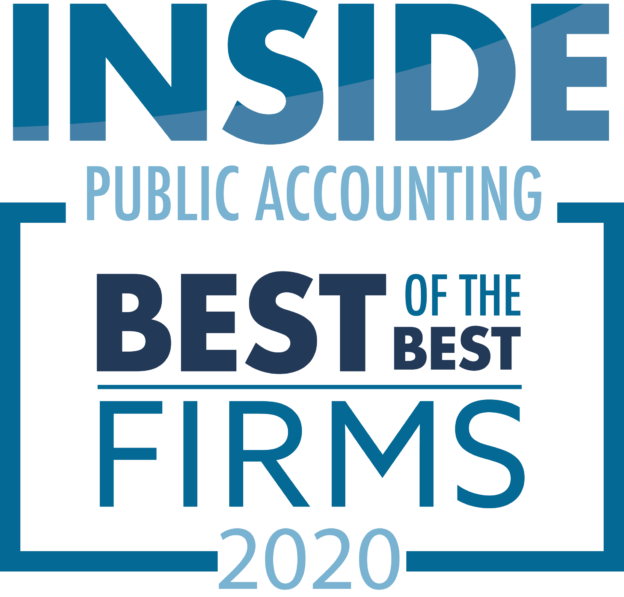 Graphic saying Inside Public Accounting 2020_Best of the Best Firms
